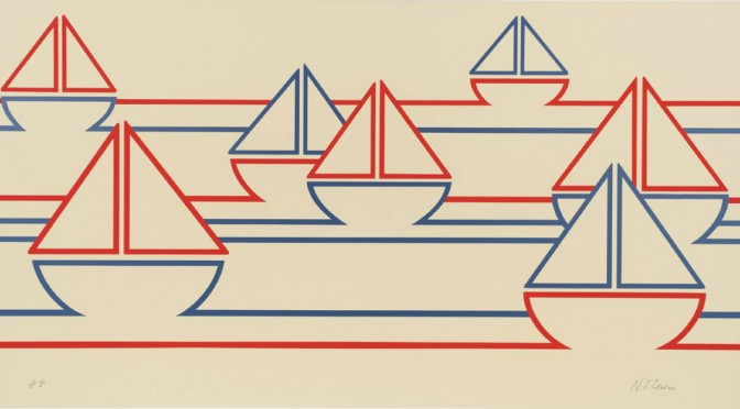 Boats 1973 by Nicholas Monro born 1936