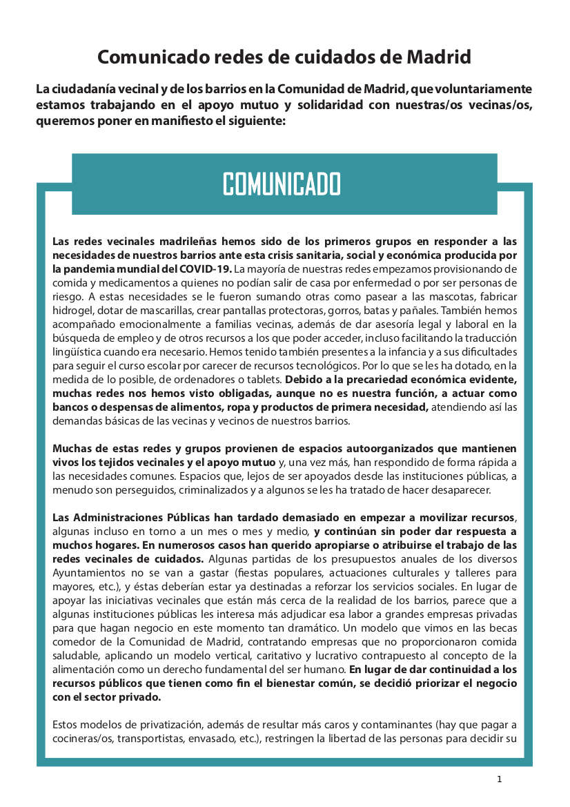 Comunicado Colectivo Redes de Cuidados de Madrid 28mayo_1